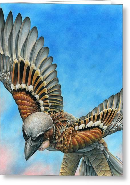Bird Flight Greeting Card by Cara Bevan