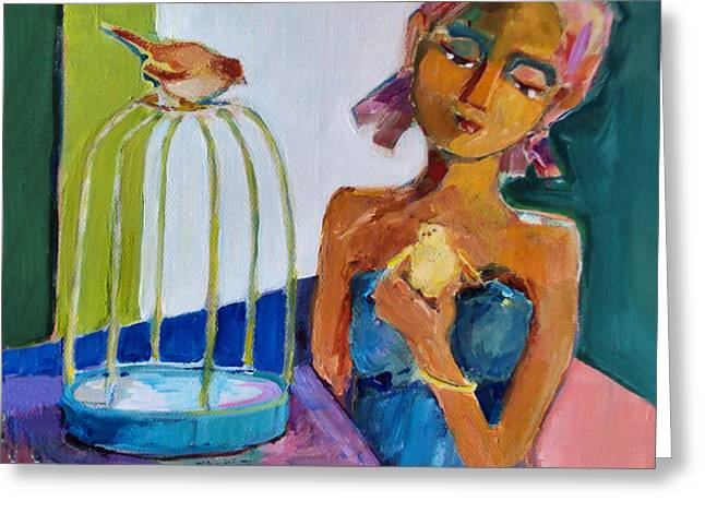 Bird Girl Greeting Card