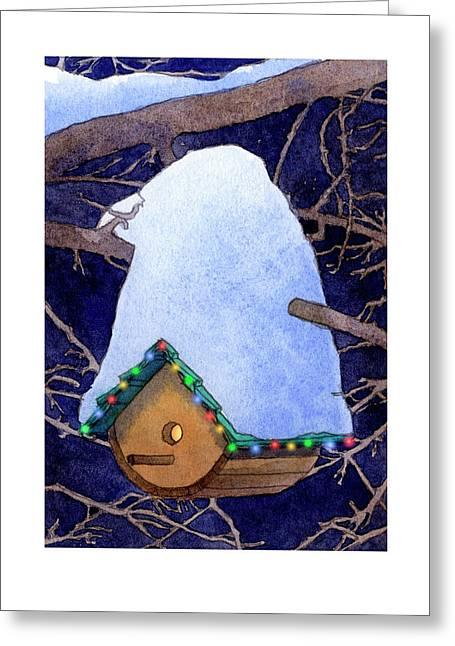Bird House Christmas Greeting Card