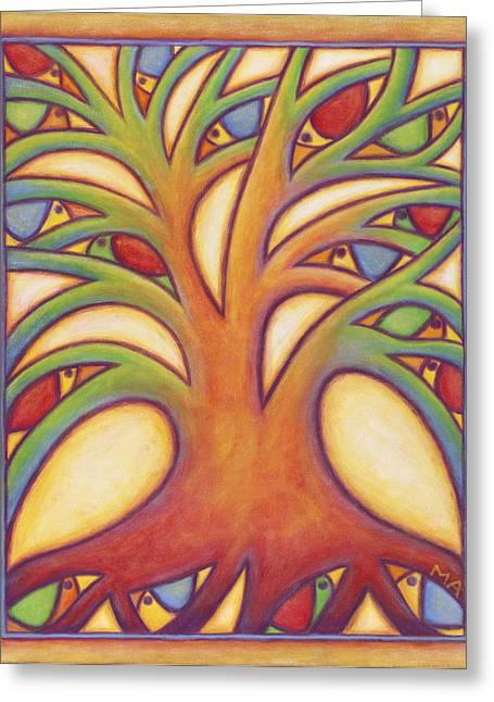 Bird House Greeting Card by Mary Anne Nagy