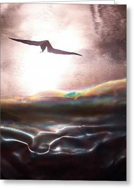 Bird In Flight Greeting Card by Jeff  Williams