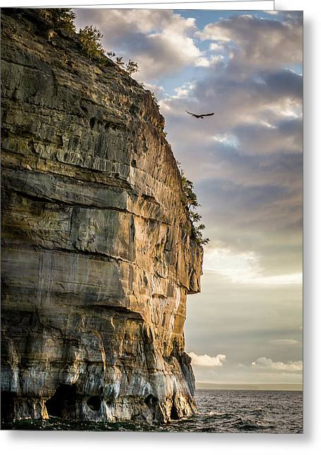 Sunset On The Pictured Rocks Greeting Card