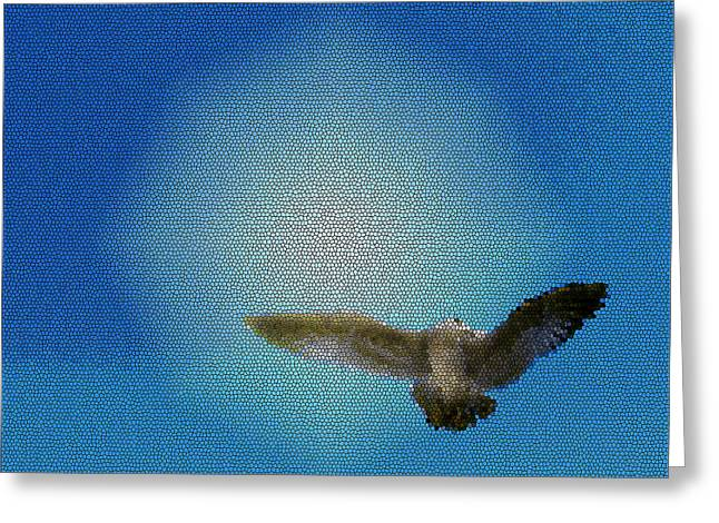 Bird In The Sky Greeting Card by Robin Hernandez