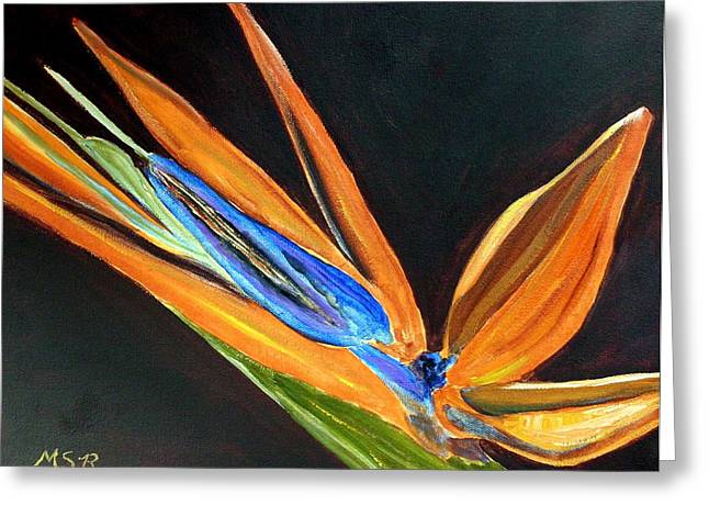 Bird Of Paradise 2 Greeting Card by Maria Soto Robbins