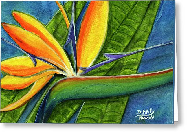 Bird Of Paradise #300b Greeting Card by Donald k Hall