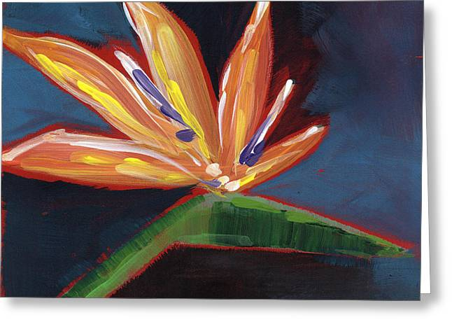 Bird Of Paradise- Art By Linda Woods Greeting Card by Linda Woods