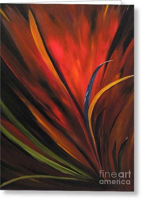 Bird Of Paradise Greeting Card by Carol Sweetwood