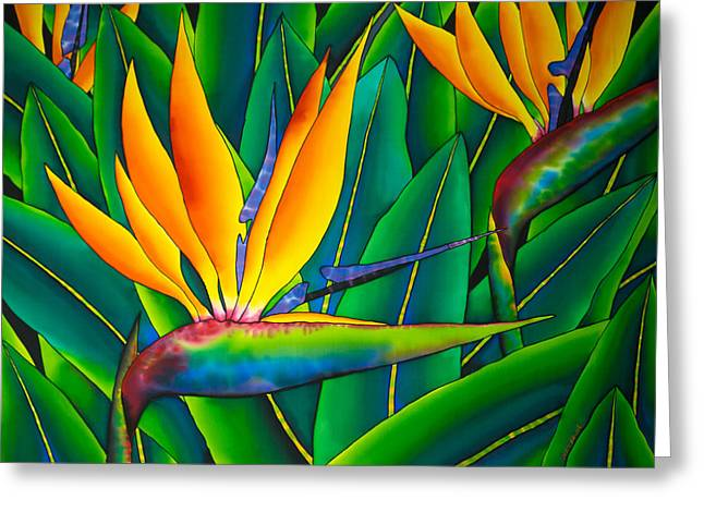 Bird Of Paradise Greeting Card by Daniel Jean-Baptiste