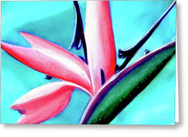 Bird Of Paradise Flower #290 Greeting Card by Donald k Hall