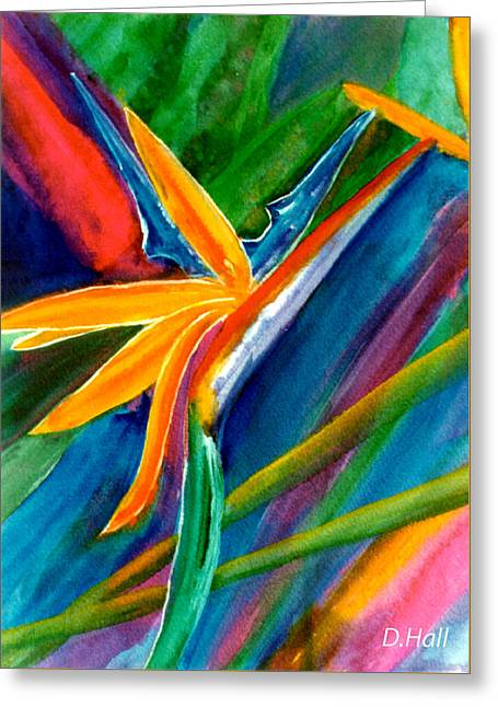 Bird Of Paradise Flower #66 Greeting Card by Donald k Hall