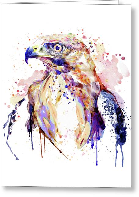 Bird Of Prey  Greeting Card by Marian Voicu