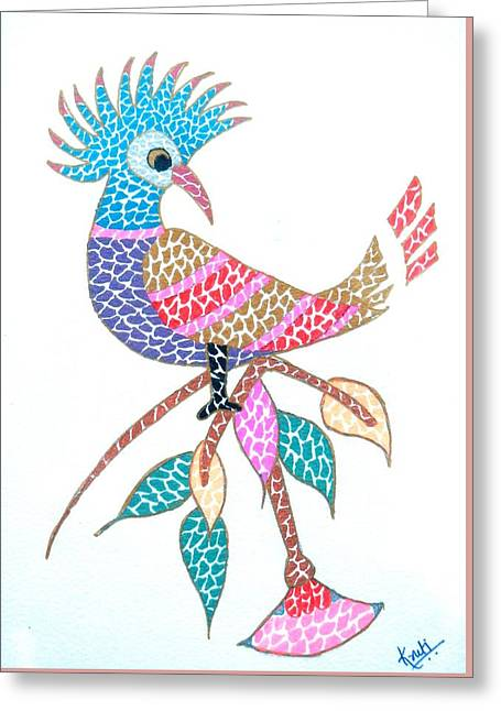 Bird On A Branch Greeting Card
