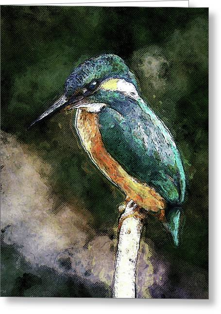Bird On A Branch Greeting Card by Phil Perkins
