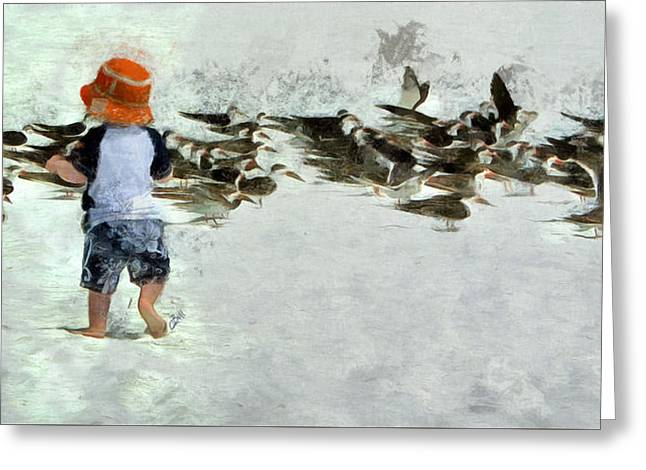 Greeting Card featuring the photograph Bird Play by Claire Bull