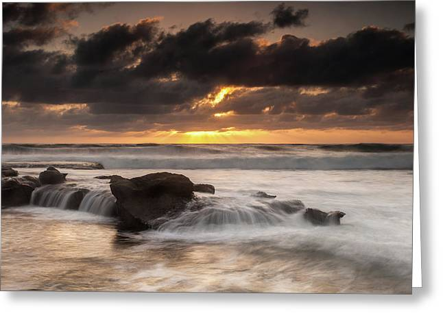 Bird Rock Clearing Storm Greeting Card