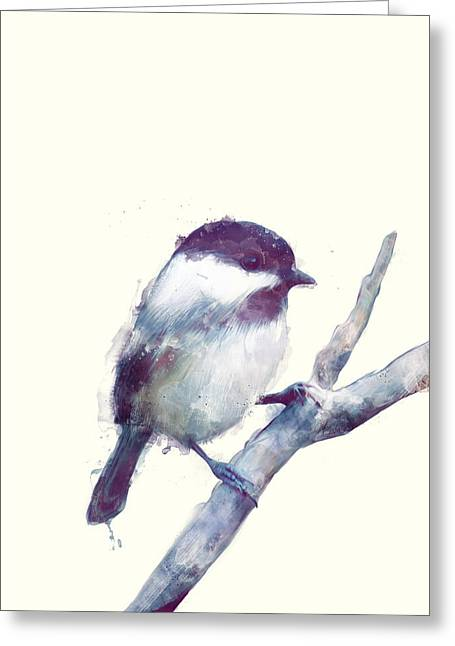 Bird // Trust Greeting Card by Amy Hamilton