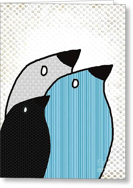 Birdies - 6901a Greeting Card by Variance Collections