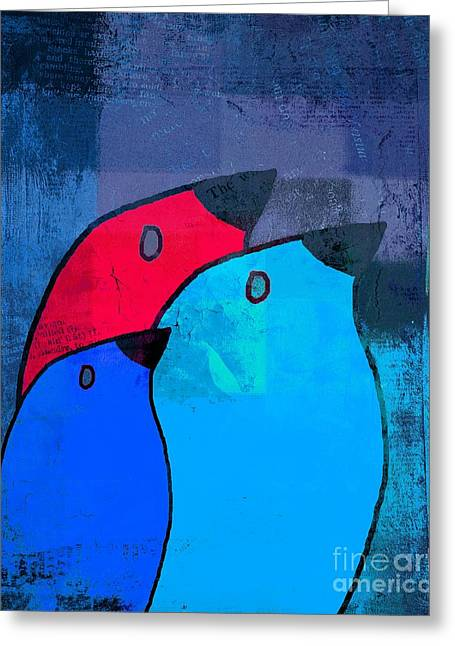 Birdies - C2t1j126-v5c33 Greeting Card by Variance Collections