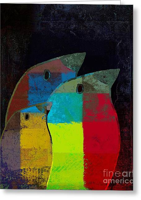Birdies - C2t1v4 Greeting Card by Variance Collections