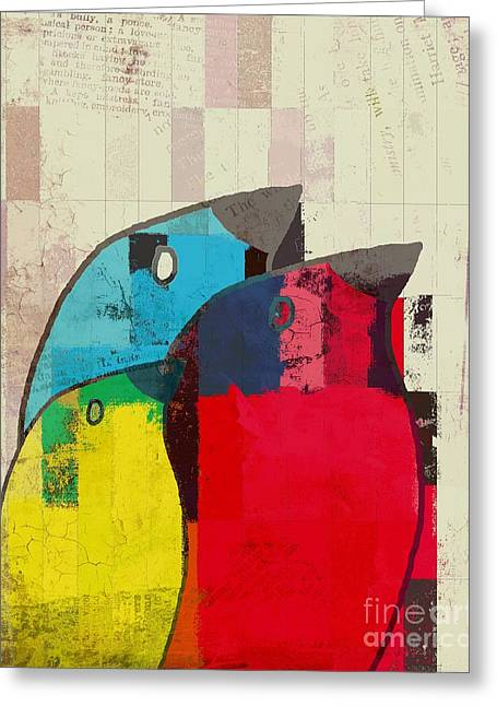Birdies - J039088097a Greeting Card by Variance Collections