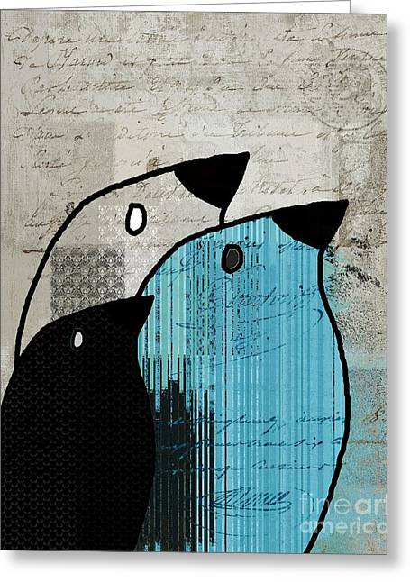 Birdies - J693b2 Greeting Card by Variance Collections