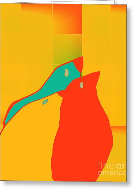 Birdies - P01p2t6 Greeting Card by Variance Collections
