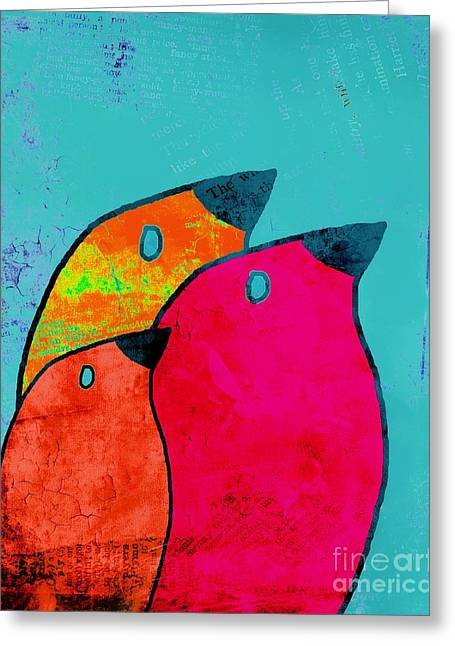 Birdies - V03a Greeting Card by Variance Collections