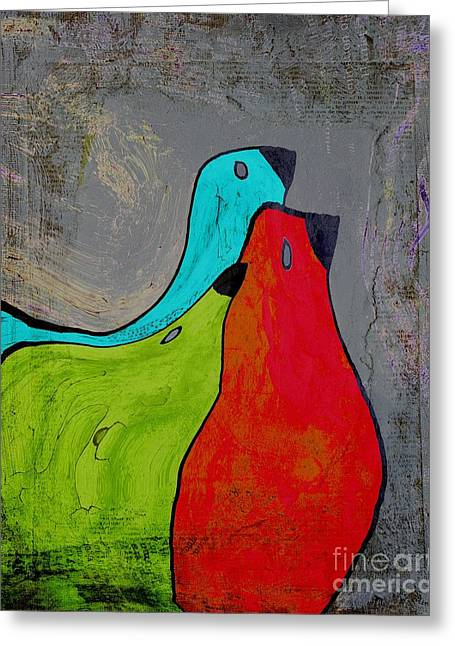 Birdies - V110b Greeting Card by Variance Collections