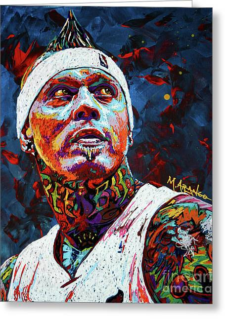 Birdman Andersen Greeting Card by Maria Arango