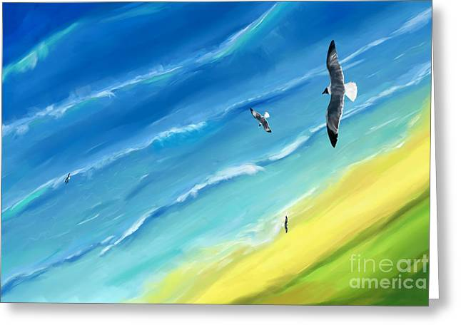 Bird's-eye Above Sea Greeting Card