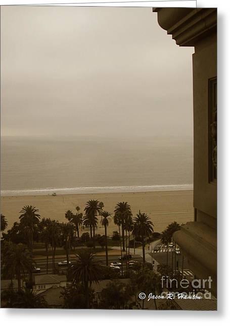 Birds Eye In Santa Monica Greeting Card by Jason R Hampton