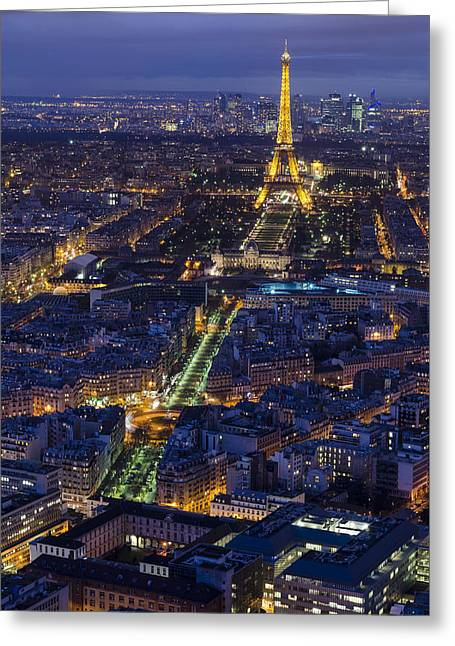 Bird's Eye On Paris 2 Greeting Card