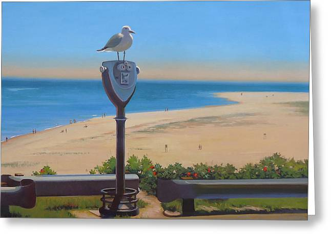 Bird's Eye View Greeting Card by Dianne Panarelli Miller