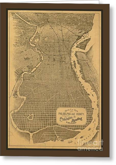 Birds Eye View Of Philadelphia Greeting Card