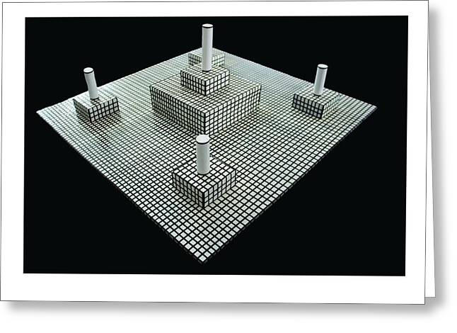 Stripes Sculptures Greeting Cards - Birds Eye View  too Greeting Card by Frank Parrish