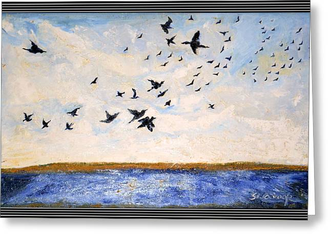 Birds In Flight At Pushkar Greeting Card by Anand Swaroop Manchiraju