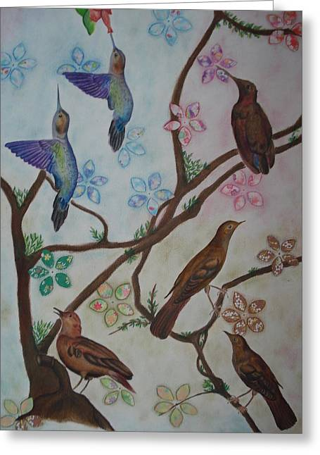 Birds Greeting Card by Latha  Vasudevan