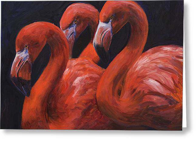 Birds Of A Feather Greeting Card by Billie Colson