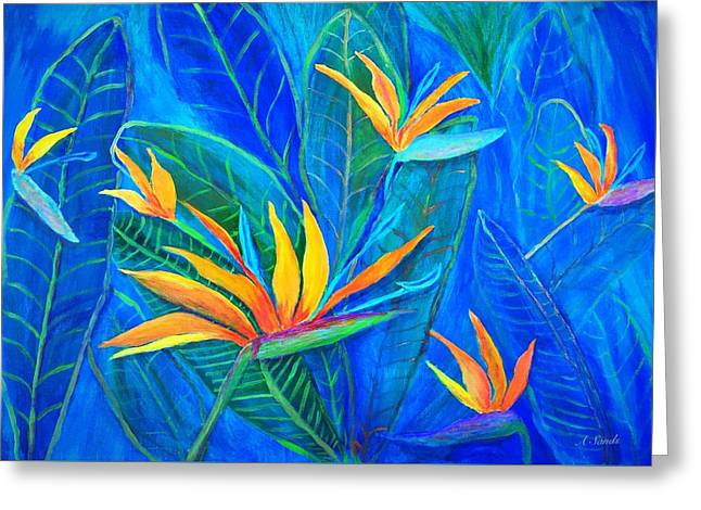 Birds Of Paradise In Florida Greeting Card