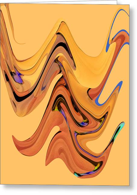 Greeting Card featuring the digital art Birds Of Paradise Improvisation by Gina Harrison