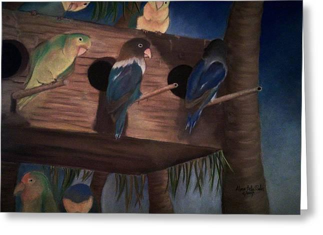 Birds Resting Greeting Card