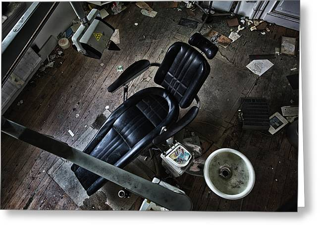 Birdsview At The Dentist - Abandoned Buildings Greeting Card by Dirk Ercken