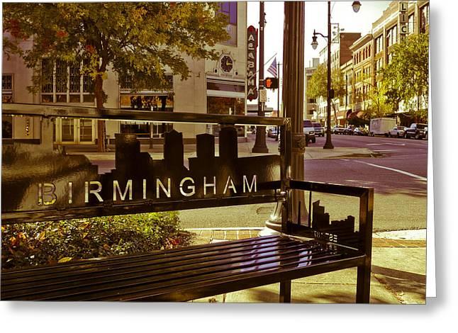 Birmingham Bench Greeting Card