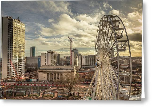 Birmingham Christmas Craft Fair Greeting Card by Chris Fletcher