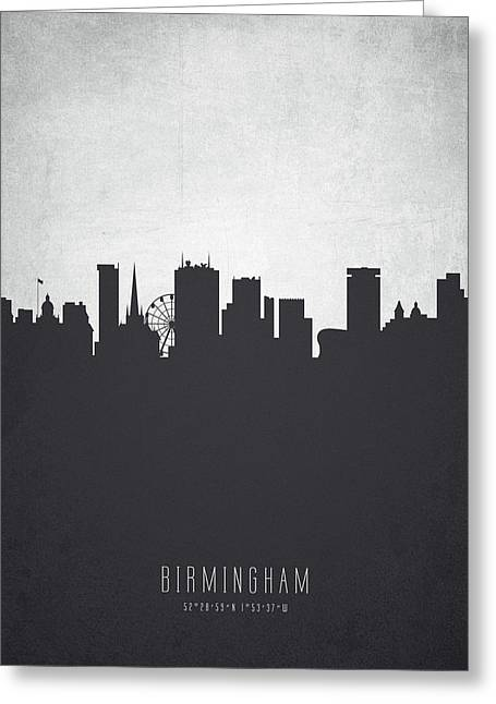 Birmingham England Cityscape 19 Greeting Card by Aged Pixel