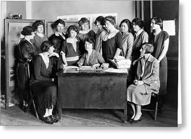 Birth Control Pioneer Sanger Greeting Card by Underwood & Underwood