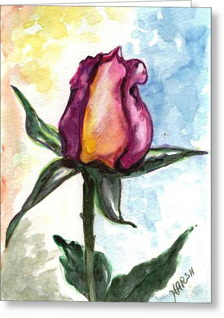Greeting Card featuring the painting Birth Of A Life by Harsh Malik