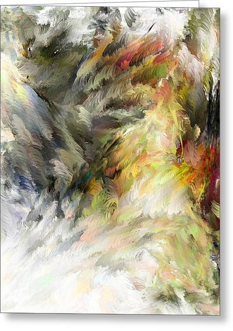 Greeting Card featuring the digital art Birth Of Feathers by Dale Stillman
