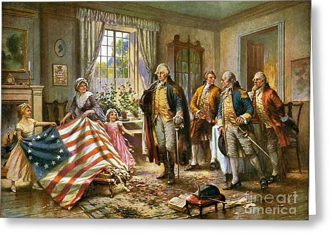 Birth Of Old Glory 1777 Greeting Card