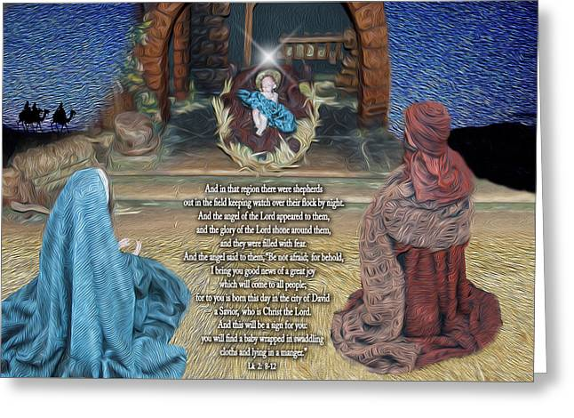 Birth Of Our Lord Greeting Card